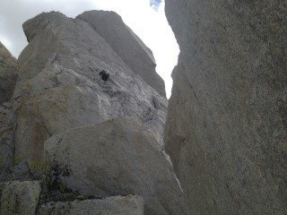 Rock Climbing Photo: Options on the last pitch to the summit - face cli...