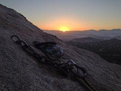 Rock Climbing Photo: An alpine start is mandatory for a climb this long