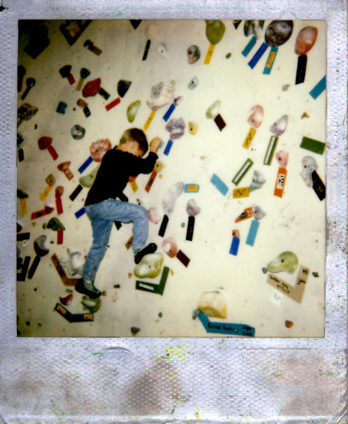 Rock Climbing Photo: Climbing at Hang Time gym in Park City during the ...