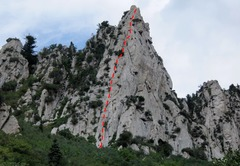 Rock Climbing Photo: The Guardian - the Swiss Edge ascends the (climber...