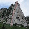 The Guardian - the Swiss Edge ascends the (climber's) right arete of the west face.