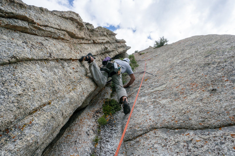 Rock Climbing Photo: Swiss Arete on The Guardian pitch 3 dihedral
