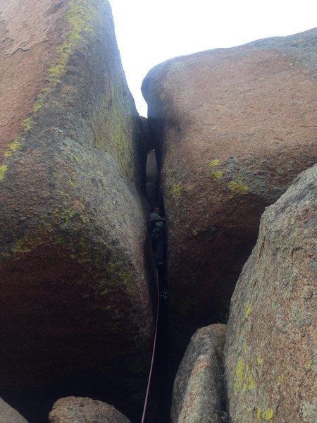 Rock Climbing Photo: Zach Keeney leading Candlestick.