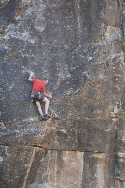 Just after the crux.<br> <br> Photo by: Tim Kuss.