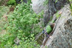 Rock Climbing Photo: Climber in Mini Superman