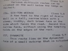 "Rock Climbing Photo: The description of the ""Six-Ton Weenie"" ..."