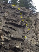 Rock Climbing Photo: Photo of the route Notches.