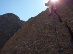 Rock Climbing Photo: Halfway up the crack.