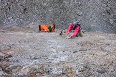Rock Climbing Photo: On the 13a pitch 7