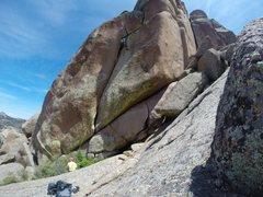 Rock Climbing Photo: Zach Keeney leading Moon Tide, 10a.