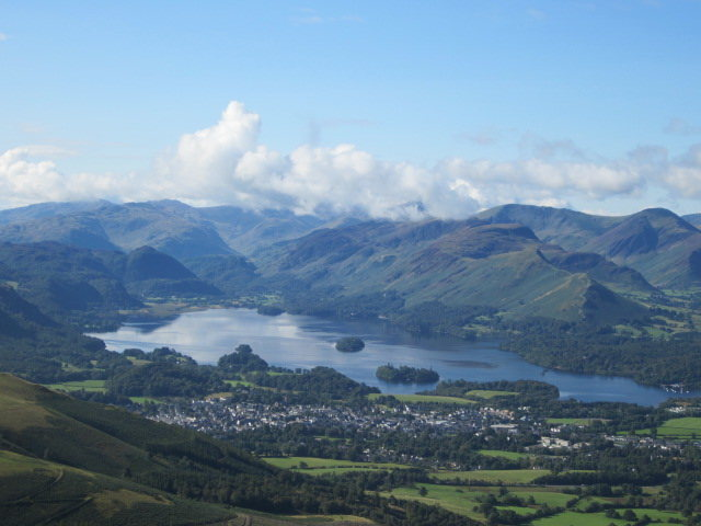 Rock Climbing Photo: View from midway up Skiddaw Mt towards Derwentwate...