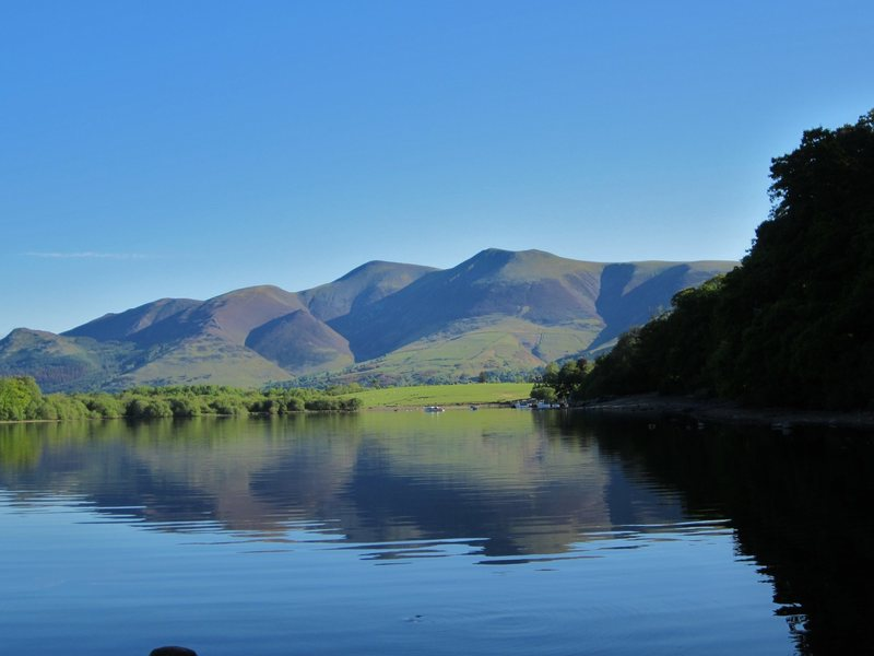 Rock Climbing Photo: Mt Skiddaw from Derwentwater Lake