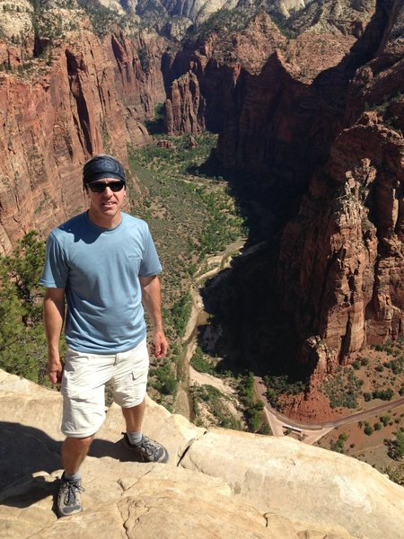 Rock Climbing Photo: top of Angels Landing, Zion NP