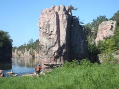 Rock Climbing Photo: Looking at King Rock mid-August 2014