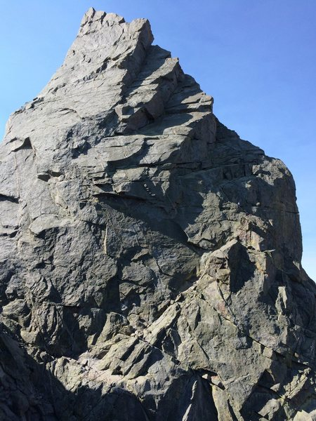 Rock Climbing Photo: Shark's Nose, as viewed from on approach across th...