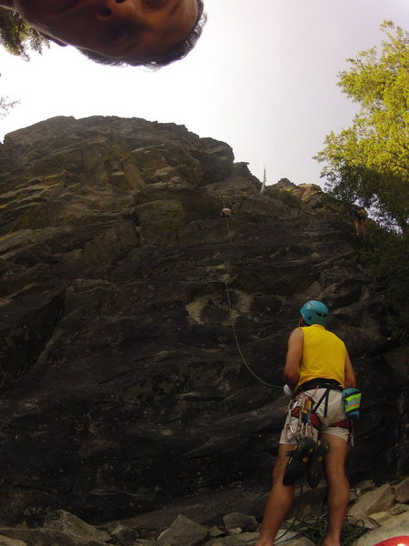 Rock Climbing Photo: Alena at the crux of the EB-2