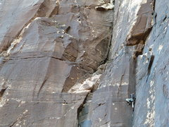 Rock Climbing Photo: red rocks a few years ago, learning to lead trad