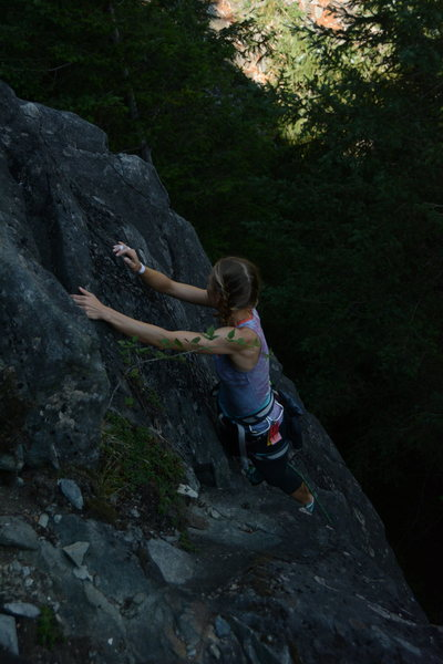 Rock Climbing Photo: Alena in the middle of the EB-5