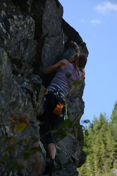 Alena clipping one of the last bolts on the EB-5