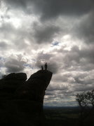 Rock Climbing Photo: The Outlook with Peace of Minds anchor chains dang...