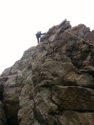 Rock Climbing Photo: Second climber my buddy Andrew got to pumping afte...
