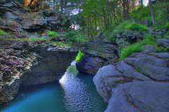 Gorge down the hill great for cool off jump.  Might be some deep water solos in there for some FA's...