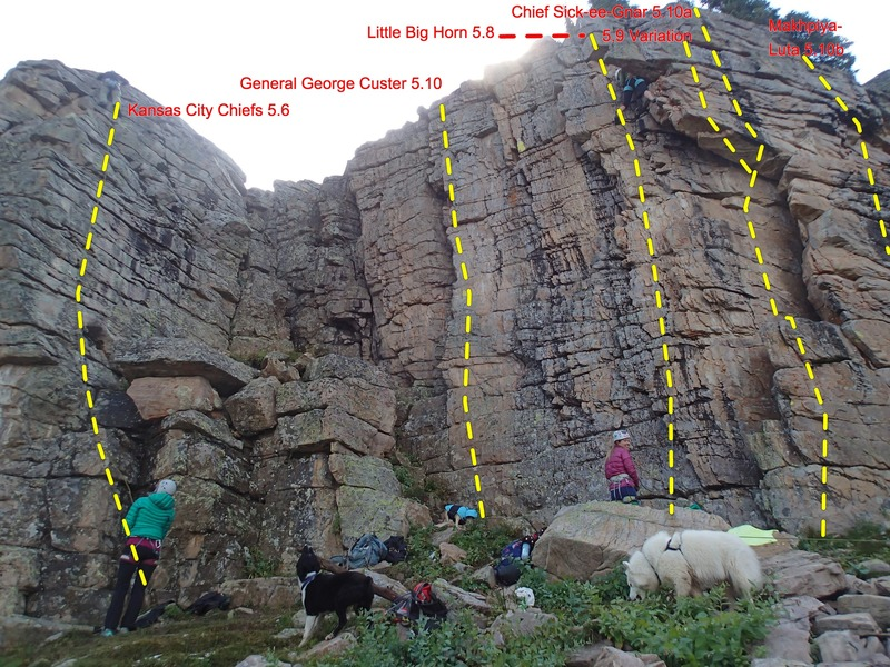 The right side of Chief Wall. Anyone have info on the unnamed routes?