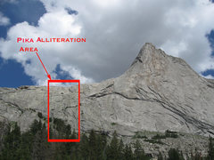 Rock Climbing Photo: Pika Alliteration is located on the north end of H...