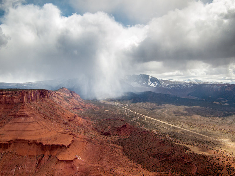 Rock Climbing Photo: View of the storms blowing through Castle Valley f...