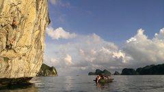 Rock Climbing Photo: Deep Water Solo Aug 2014
