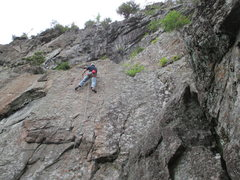 Rock Climbing Photo: Higher up on the route