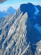 Rock Climbing Photo: Aerial shot of Moran's North Ridge.