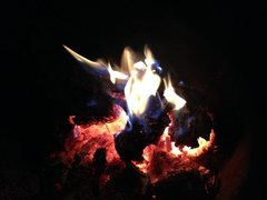 Rock Climbing Photo: Campfire at Boulder Basin CG, Black Mountain