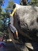 Rock Climbing Photo: Boulder Basin Dyno (V5), Black Mountain