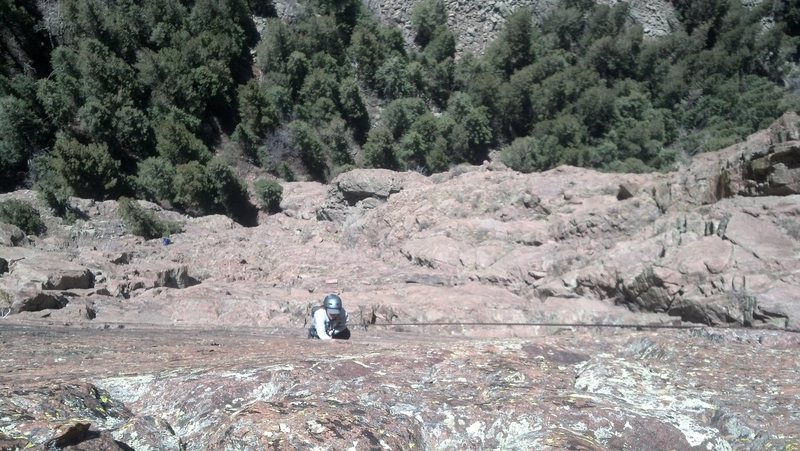 Rock Climbing Photo: The Second Coming - Greta Shyock finishing  the la...