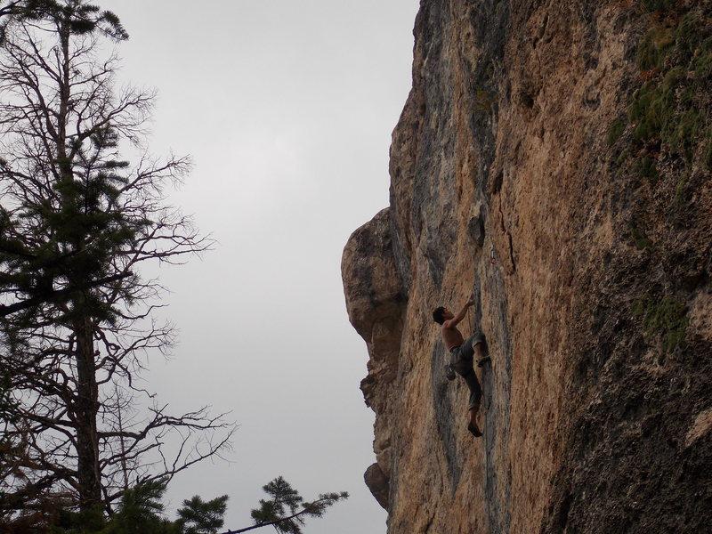 Rock Climbing Photo: Mike Banuelos on Center El Shinto