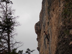 Rock Climbing Photo: Mike Banuelos on Center El Shinto