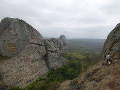 Rock Climbing Photo: Dan at the top of P2.