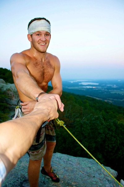 Rock Climbing Photo: Topping out in Sandrock, AL