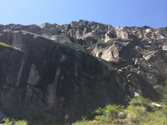 Rock Climbing Photo: You can see both the route Day Hike and the rap an...
