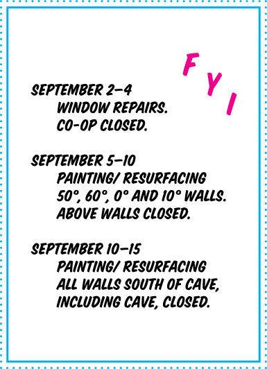 co-op repairs closing dates flyer