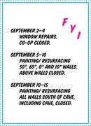 Rock Climbing Photo: co-op repairs closing dates flyer