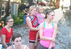 Rock Climbing Photo: cheerleaders for the Red Rockets