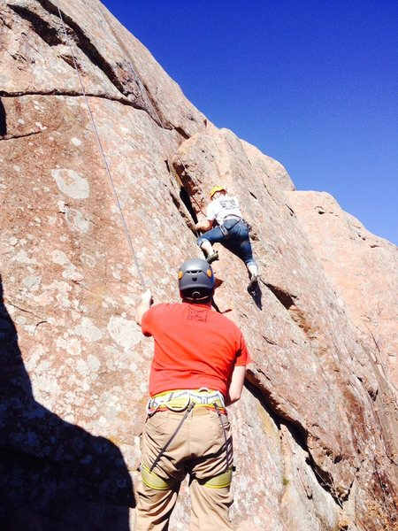 Rock Climbing Photo: Pile Driver, Upper Mount Scott, Wichita Mountains ...