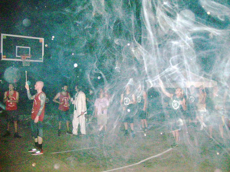Rock Climbing Photo: smoke and fire everywhere