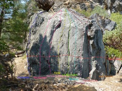 Rock Climbing Photo: Lime Kiln Boulder Front and right side