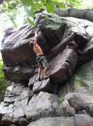 Rock Climbing Photo: Beta: there are three small pockets on bottom of t...