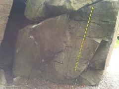 Miasma start on the right hand side of the boulder