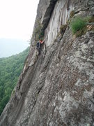 Rock Climbing Photo: One of the crux pitches, for route finding and cli...