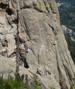 Rock Climbing Photo: Fisherman's Elbow. First 2 pitches and start of 3r...